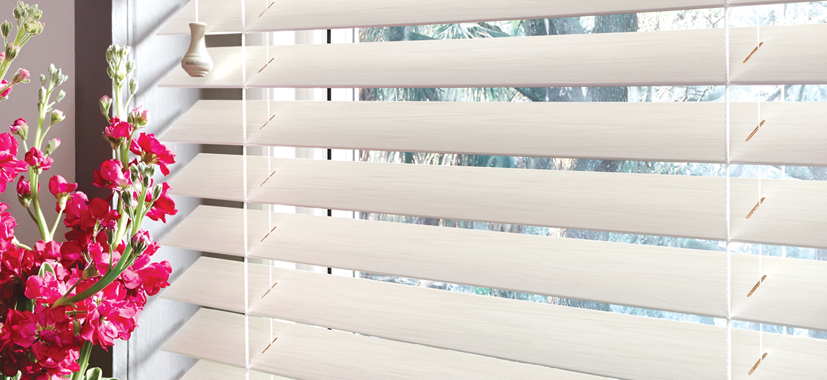 Hunter Douglas Blinds Cleveland by Timan Custom Window Treatments | Parkland Wood Blinds