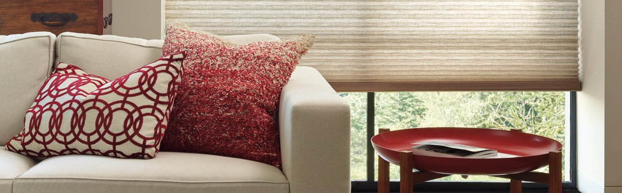 Timan Custom Window Treatments Cleveland | Alustra Duette honeycomb shades