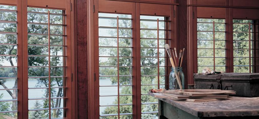 Hunter Douglas Shutters Cleveland by Timan Custom Window Treatments