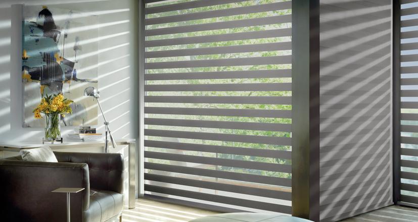 Hunter Douglas Cleveland Design Center designer banded shades 44125