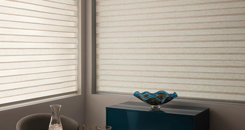 Hunter Douglas designer banded shades custom window shades chagrin falls 44022