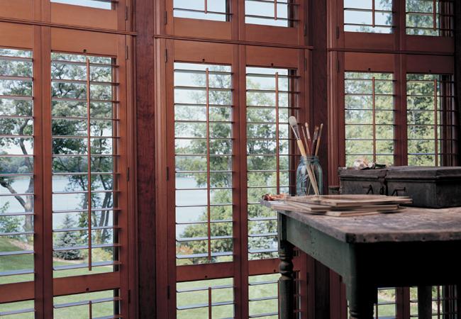 plantation shutters Cleveland Chagrin Falls Rocky River hardwood shutters