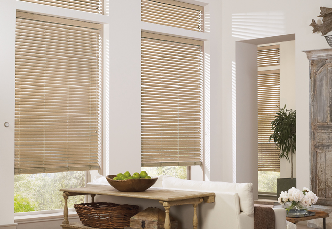 Hunter Douglas blinds for large windows