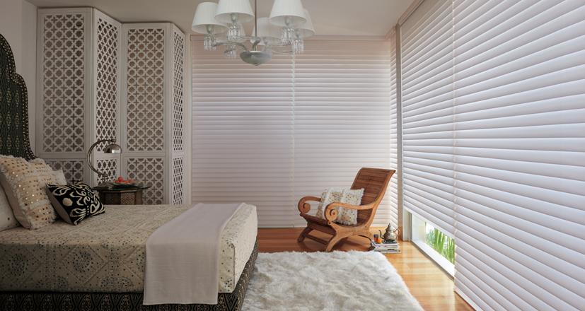 Hunter Douglas bedroom shades silhouette shades