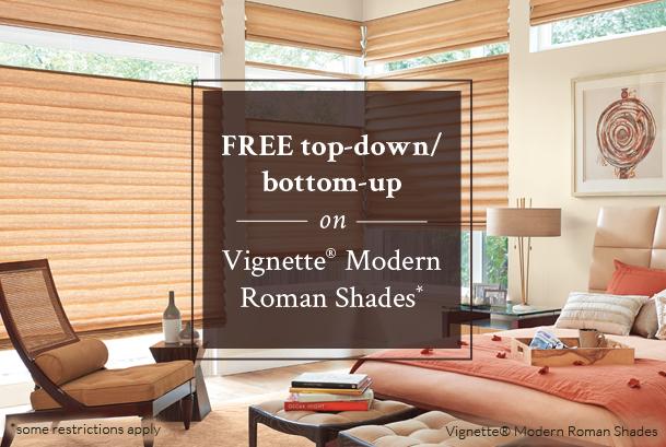 Vignette Modern Roman Shades Timan Custom Window Treatments Cincinnati