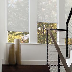 Timan Custom Window Treatments Hunter Douglas Designer Screen Shades Cordless Thumb Timan Custom Window Treatments